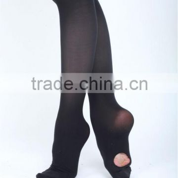 Sexy black seamless ballet dance tights leggings for women with hole D020001