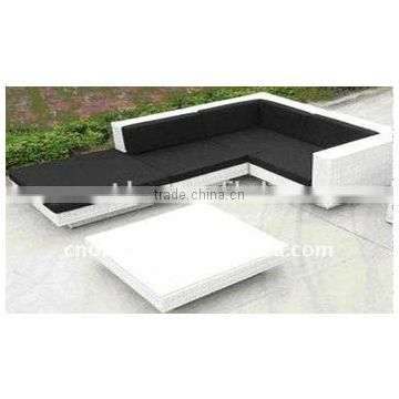 Husen White Outdoor Garden Rattan Sofa Set