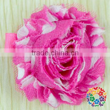 Wholesale Many Different Colors Shabby Chiffon Flower Decoration Girls Flower Hair Clips