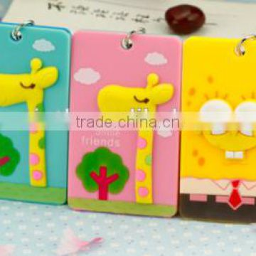 Card holder with keychain; Bus card holder; cartoon pattern;PVC card holder;manufacture wholesales;three-dimensional card holder