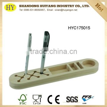wholesale cheap pine wood phone and pen holder