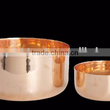 copper plated pet bowl