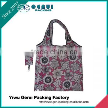 Folding Style and individual pocket,210D polyester Material Shopping Bag