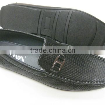2015 men's fashinable PU shoes in PVC outsole with buckle.