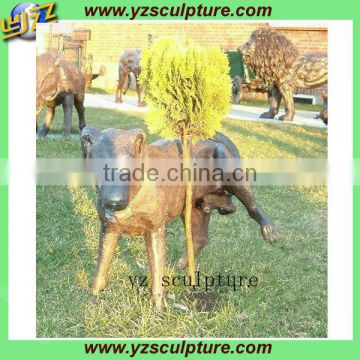 outdoor dog animal sculpture decorative hot sale
