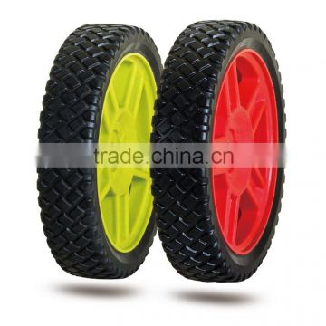 6/7/8 inch lawn mower plastic wheel for garden carts, baby stroller, garbage bin                                                                         Quality Choice