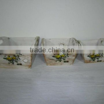 2104 New wooden flower pot