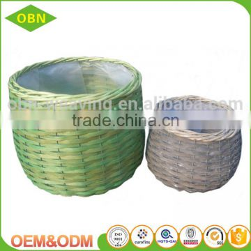 Wholesale high quality colorful decorative garden handmade wicker basket flower pot
