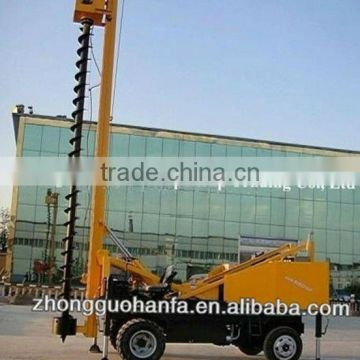 360-degree rotation Energy-saving drilling machine,11m depth pile drilling rig, HF360 piling drilling rig