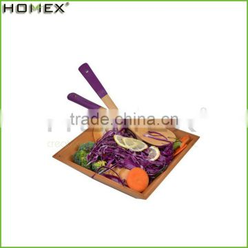 High Quality Baboo Lacquer Square Salad Bowl/Homex_Factory