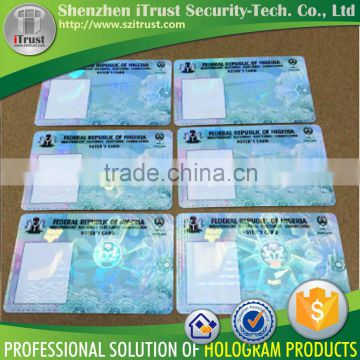 Custom id card hologram overlays id card lamination film holographic overlays film                                                                         Quality Choice