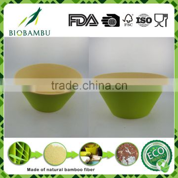 Hot sell Eco Bamboo Fiber double color bowl