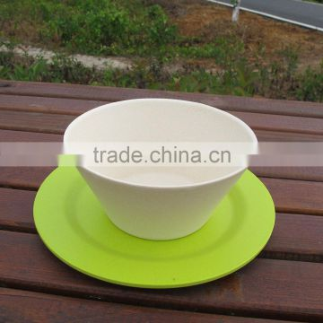 Quality assurance Biodegradable Inexpensive bamboo fibre tableware