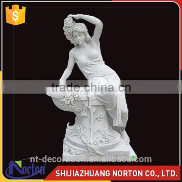Hand carved Marble outdoor female bath sculpture for sale NTMS-057Y