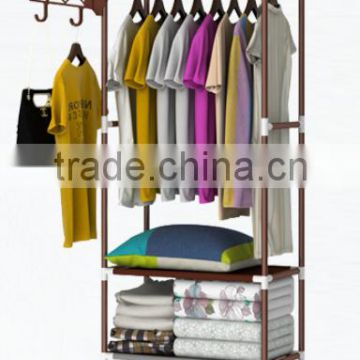 Removable home furniture rotating clothes hanger rack