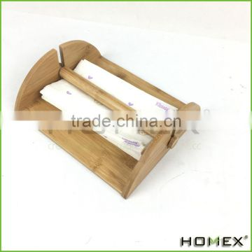 Bamboo Heavy Duty Napkin Holder Rack with Center Bar Homex BSCI/Factory