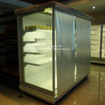 supermarket refrigeration display showcase night cover