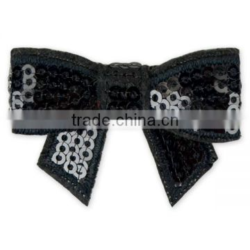 4.5 CM Turquoise Sequins hair bows Hairgrips