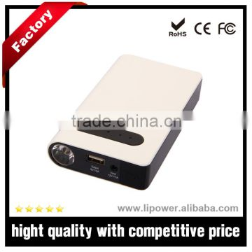 CE FCC ROHS car battery jump starter 8000mAh multi-function jump starter with portable car charger