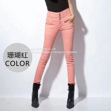 70,000pcs Ladies high waist solid skinny pants
