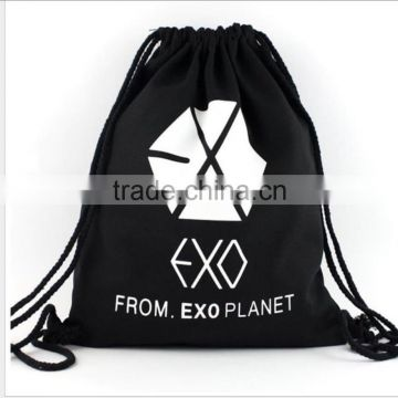 Promotional Gift Bag Use and Polyester Material gym drawstring bag