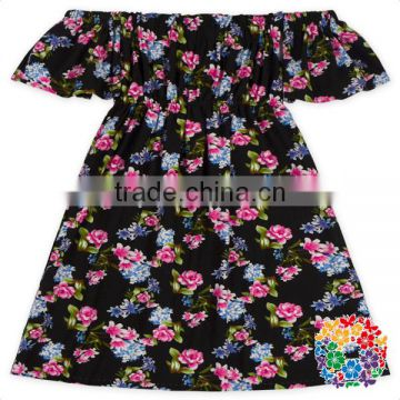 wholesale pictures of latest gowns designs floral dress kids frock designs