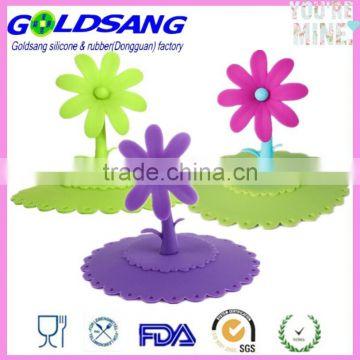 2014 Flower silicone airtight cups cover