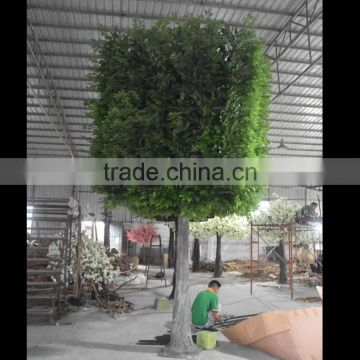 New Hotsale Artificial Large Green Outdoor Topiary Ficus Tree Self Customized Fake Green Ficus/Banyan Tree