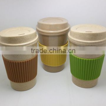 Eco Bamboo Fiber Coffee Cup with Lid