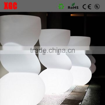 Outdoor illuminated big flower pot for park new