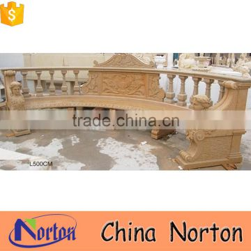 natural stone carved outdoor bench decoration NTS-B145X