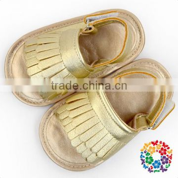 Wholesale Soft Sole Moccasins Prewalker Tassel Pink Girls Sandals