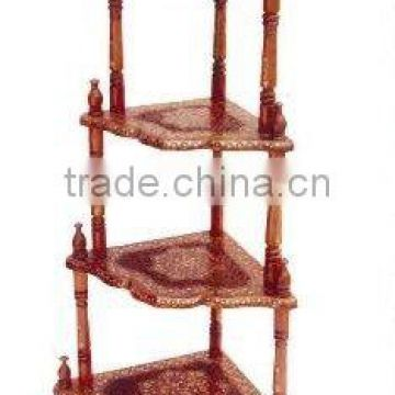 Wooden corner table, wood corner table, corner table furniture, nook corner table, corner end table, storage end table,