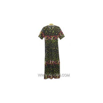Latest Dress Design Women Summer Flower Dress Long Maxi Dress