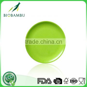 Good quality OEM available Eco bamboo fiber fruit plate