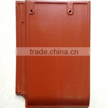 German style clay roof tile/flat ceramic tile with professional workmanship