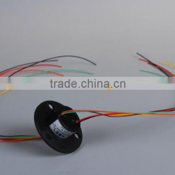 capsule slip ring SRC 022-6 dia.22mm 6wires2A/6wires, through hole slip ring 22 mm