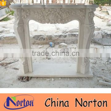 French style natural marble indoor decorative fireplace frame NTMF-F814A