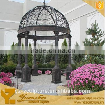 Europe style outdoor garden gazebo wrought iron gazebos for sale