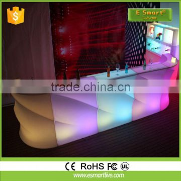 LED Round Bar Counter/Colorful LED bar counter for pub