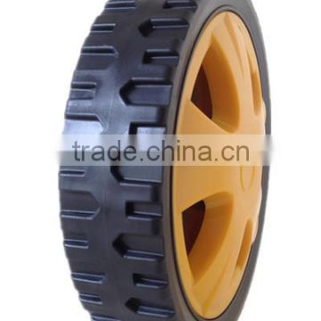 6/7/8/10 inch lawn mower plastic wheel for garden cart, lawn mower, trolley