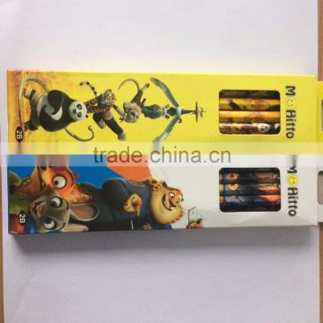 12pcs per set packing HB pencils standard HB pencil from chinese factory
