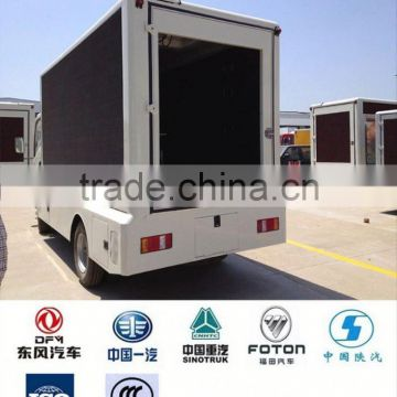 China Howo 4x2 led truck, led mobile stage truck for sale