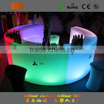 Rotational acrylic light furniture var table counter GF333