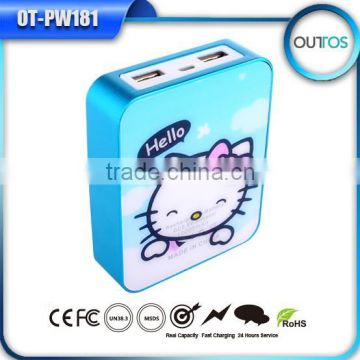High capacity power bank 10400mah mobile power supply
