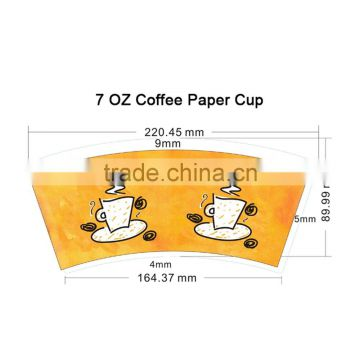 7oz High Quality Raw Material for Paper Cup Sheet Paper Cup Fan