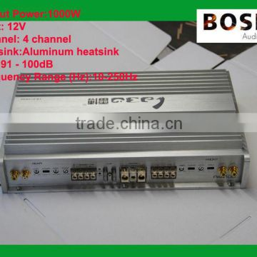 4 channel extreme power amplifier in aluminum alloy