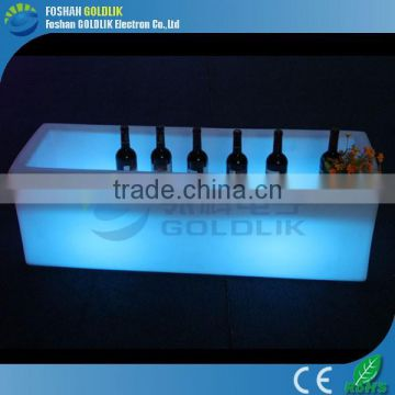 Printing Logo LED Lighted Ice Bucket for Wedding