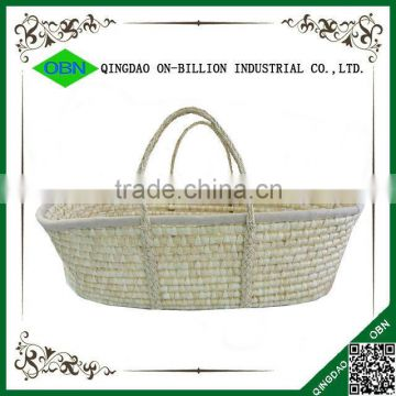 Eco-friendly hand carry maize baby mose baby carrier basket