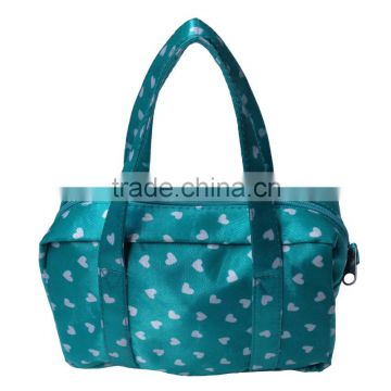 fashion Handled Style and Satin Material cosmetic tote bag